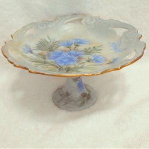 Vintage Porcelain Hand Painted Pedestal Compote